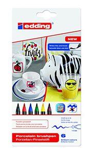 Edding Porzellan Pinselstift auch für Glas und Keramik Farben Sortiert