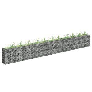 anlund Gabionen-Hochbeet Verzinkter Stahl 450×30×60 cm