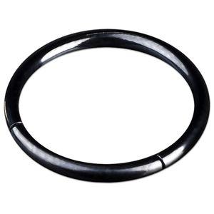 viva-adorno 1,2x10mm Segmentring Piercing Ring Chirurgenstahl in verschiedenen Farben und Größen Z228,Schwarz