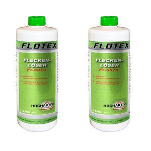 Flotex Fleckenlöser, 2 x 1L Fleckentferner Fleckenwasser Fleckenentferner Textilreiniger