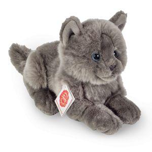 Teddy Hermann 91831 Kartäuser Katze liegend ca. 20cm Plüsch