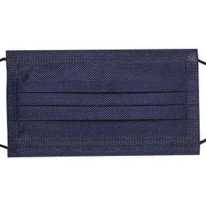 10 Stück EMUZO Mund-Nasen-Maske Einwegmasken Navy Schwarz Blau Einweg Mundschutz OP Maske Atemschutz