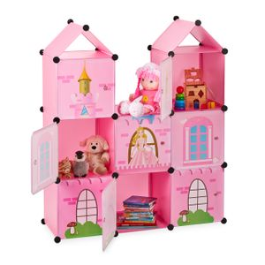 relaxdays Steckregal Kinderzimmer als Schloss