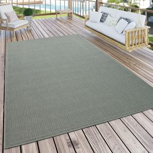 Outdoor Teppich Für Terrasse Und Balkon Küchenteppich Einfarbig Modern Grün, Grösse:300x400 cm