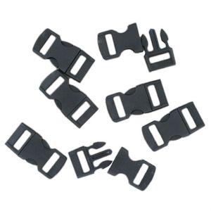 100 Klickschnallen 11mm schwarz, Steckverschluss ideal für Paracord Armbänder