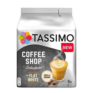 Tassimo Coffee Shop Selection Flat White,  16 Kapseln / 8 Portionen, Kaffeekapseln