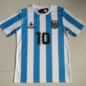 Argentinien Mexiko 1986 # 10 Maradona Retro Vintage Fußball Trikot Trikot #L