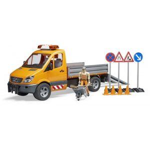 BRUDER Spielzeug MB Sprinter Kommunal Fahrzeug mit Fahrer und Zubehör / 02537