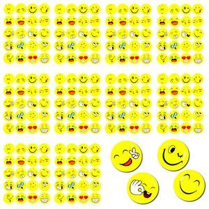 Oblique Unique 200 Smiley Sticker Set Aufkleber Mix verschiedene Stimmungen  - gelb