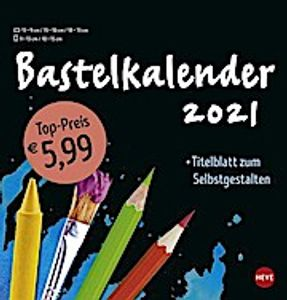 Bastelkalender 2021 mittel schwarz