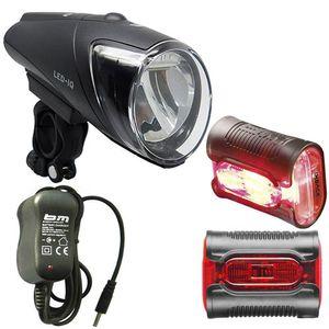 Busch & Müller Lichtset Vorne + Hinten Ixon Iq Premium + Ixback Senso 80 Lux Schwarz