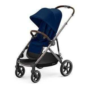 CYBEX Gazelle S - Big City Shopper Buggy, Cybex Kinderwagen Gestell:Taupe, Design::Navy Blue