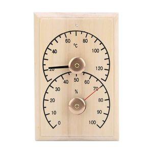 Mllaid Sauna Raum Digital Thermometer Holz Hygrometer Luftfeuchtigkeit Temperaturmesser für Sauna Raum Bad Schweißstrom Raum