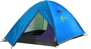 High Peak Kuppelzelt, mit wettergeschütztem Eingang, Camping Zelt für 2 Personen, tragbares Zelt, wasserdicht 2000mm, einfacher und schneller Aufbau