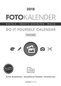 Foto-Bastelkalender weiß aufstellbar 2018