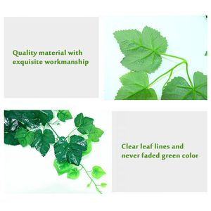 12 Pack 83 Ft Kuenstliche Efeu Girlande Vine Fake Greenery Leaf Hanging Plants Girlande fuer Hochzeitsfeier Hausgarten Wanddekoration