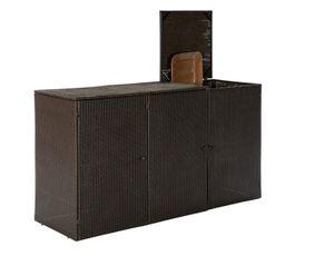 Merxx Mülltonnenabdeckung,3er groß - Farbe: braun - Maße: 220 cm x 78 cm x 123 cm; 28951-210