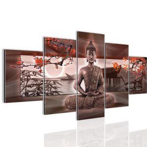 Buddha Feng Shui BILD :150x100 cm − FOTOGRAFIE AUF VLIES LEINWANDBILD XXL DEKORATION WANDBILDER MODERN KUNSTDRUCK MEHRTEILIG 503253a