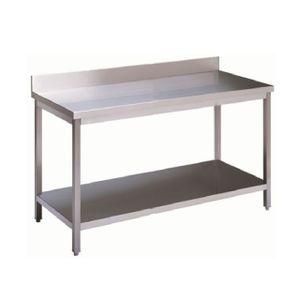 Arbeitstisch 1000 x 600 mm Edelstahl Wandanschluss Großküche Gastronomie