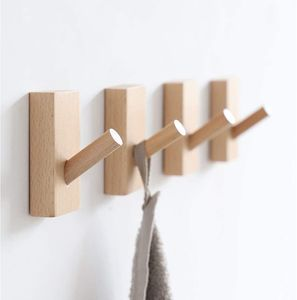 3er-Set Wandhaken aus Edelstahl, HolzHaken