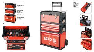 Werkzeug Trolley Werkzeugkoffer 4 Tlg Sortiment Bestückt 78 Tlg Werkzeugkiste Werkzeugbox Werkstattwagen