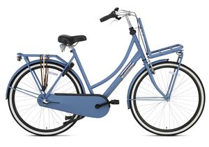 Popal Daily Dutch Basic+ Transportfahrräder Damen 28 Zoll Frau 3G Rücktrittbremse Mattschwarz