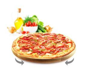Drehteller Pizzateller Vesperteller Drehbrett Käseteller Servierplatte 45cm