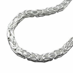 Kette ca. 8mm Königskette vierkant glänzend Silber 925 55cm silber 8x8mm