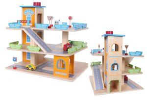 Parkgarage Parkhaus Holz-Spielgarage Lift Auto Garage Holzgarage Kinder Holzspielzeug + Zubehör COIL