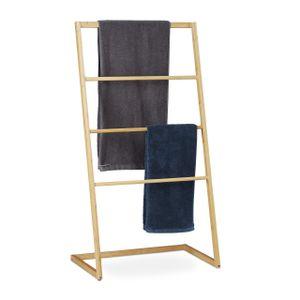 relaxdays Handtuchhalter stehend aus Bambus