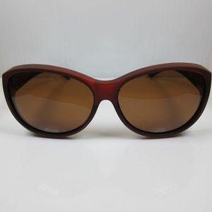 REVEX Sonnenbrille für Brillenträger CAT 3 Modell1 braun polarisierte Überbrille
