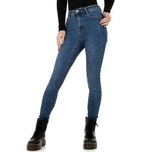 Ital-Design Damen Jeans High Waist Jeans Blau Gr.40