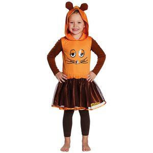Kostüm Die Maus, Mädchen Kleid orange, Größe:104