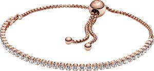 PANDORA Armband 589375C01-1 PANDORA Rose Strand Bracelet 23cm Tennisarmband Zugband verstellbar 23