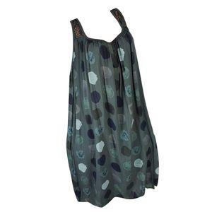 Plus Size Frauen Sommer zurück Spitze ärmelloses Trägerkleid Strand Maxi-Kleid Größe:XXXXL,Farbe:Grün