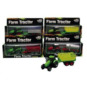 Traktor mit Anhänger, Trecker, Hoftraktor mit Licht und Sound, Farmtractor