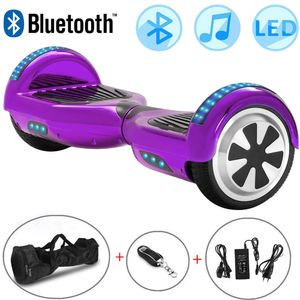 Hoverboard, 6.5 inch Self Balancing Scooter Hoverboard mit Bluetooth-Lautsprecher Hoverboards für Kinder Alter 8-12 Segway Kinder Jungen Mädchen Geschenke Hoverboard go Kart