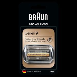Braun Series 9 92S Elektrorasierer Ersatzscherteil – silber
