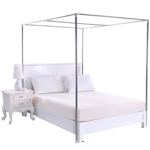 Stainless Steel Bed Mosquito Canopy Nets Bracket Support Frame Post Telescopic