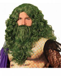 Neptun König der Meer Perücke für Halloween und Motto Party