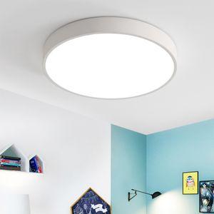 Natsen 18W LED Deckenleuchte ultra dünn Deckenlampe rund warmweiß 3000k für küche Dieler Schlafzimmer (weiß )