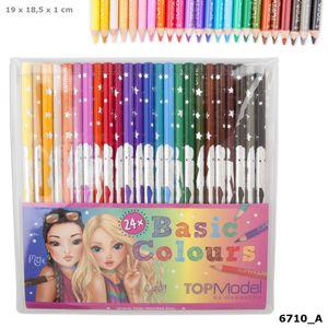 Depesche 6710 TOPModel Buntstift-Set 24 Farben Basisfarben Malstifte
