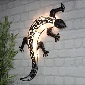 HI LED-Solar-Außenwandleuchte Gecko