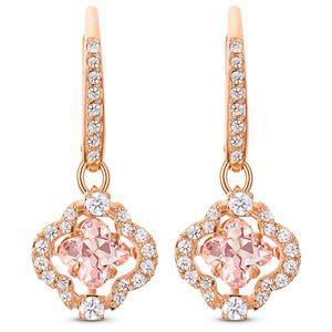 Swarovski Ohrhänger 5516477/5604198 Sparkling Dance Clover, rosa, Rosé vergoldet