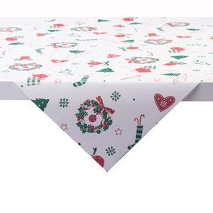 Sovie HOME Tischdecke Dream aus Linclass® Airlaid 80 x 80 cm, 1 Stück - Weihnachten Mitteldecke Ornamente