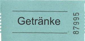 Gutscheinrolle Getränke h.blau