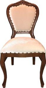 Casa Padrino Barock Luxus Esszimmer Stuhl Braun / Creme Samtstoff Mod2 - Barock Möbel