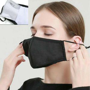 2 Stück waschbare Baumwolle PM2.5 GesichtsmaskeWiederverwendbare Atemschutzmaske + 50* FilterSchutzmaske