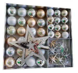 Weihnachtskugeln SHATTERproof 45 PCS - Farbe: Champagner