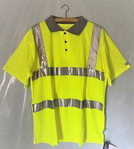 SIOEN Poloshirt Gr. L Warnschutzshirt Neongelb mit Reflektor-Streifen Polo neon